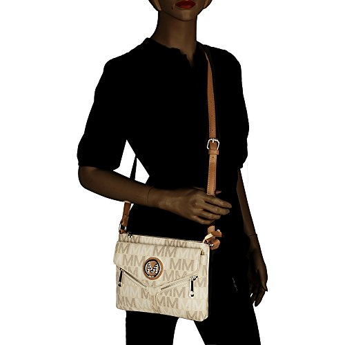 MKF Signature Mia Collection by Milan Farrow Nathy Crossbody M Brown K r8r1Ex