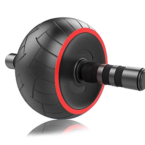 ACEmedia Ab Wheel Roller with Knee Pad Pro Fitness Equipment Ab Workout Machine Abdominal Wheel Exercise Equipment Home Gym Core Training