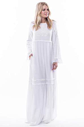 ea1cd8d9776 ModWhite White Amaryllis Temple Dress (Large) at Amazon Women s Clothing  store