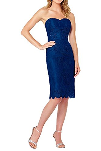 Cocktailkleider Traube Jaket Dunkel Spitze mit Marie Blau Abendkleider Damen Brautmutterkleider La Braut Knielang Langarm xw8qBnp7