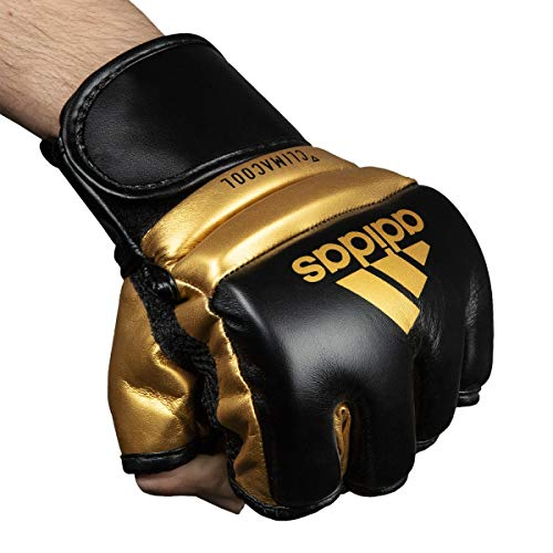 adidas FLX 3.0 MMA Speed Training Gloves, Black/Gold, Medium