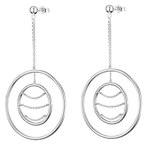 Canyon - Boucles d'oreilles pendantes - Argent 925 - E4176