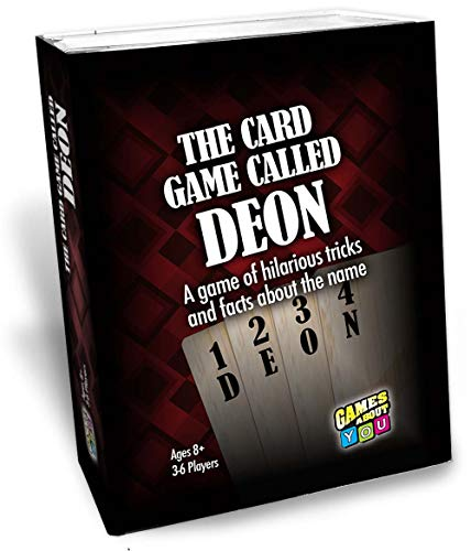 Card Game Called Deon, Personalized Game for People Named Deon