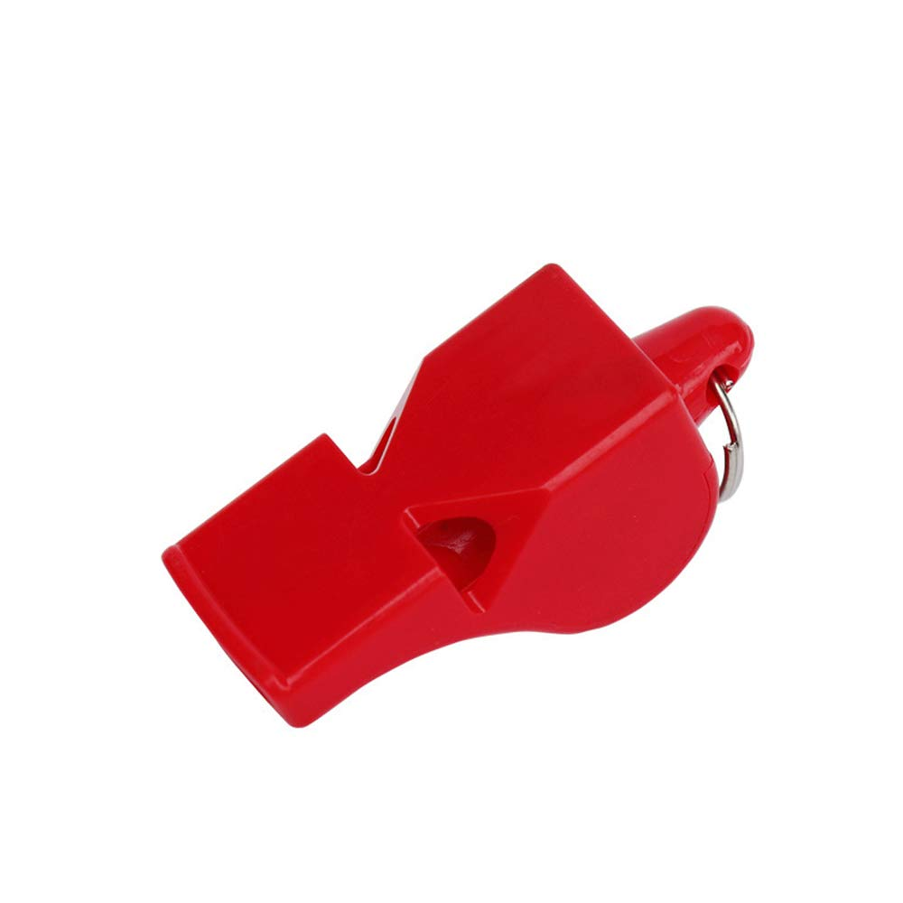 Formation durgence Rouge Aofocy 2 sifflets Pratiques avec des lani/ères sifflets en Plastique pour la Survie des Sports de Football