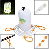 Mutiwin Portable LED Rope Lights Lantern Strip String Linear Lights 5ft for Camping, Hiking, Safety, Emergency, TV Computer Back Lighting(white light)