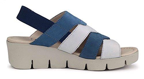 Denim K FLEXX Sandalo Zeppa Donna Bianco E The Emis wY1ZxB