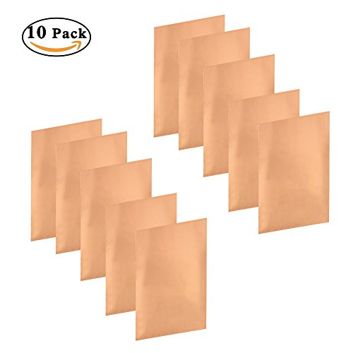 Peel Radio Card - JYFY Copper Foil Tape With Single-side Sheets 11.8inch x 0.24yards (30cm x 22.5cm) Conductive Adhesive Stained Glass Guitar Soldering Electrical Repairs Grounding EMI Shielding (10 Pcs)