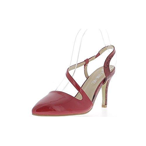 Rote Pumps und Heels 10cm offen scharfe Schlange