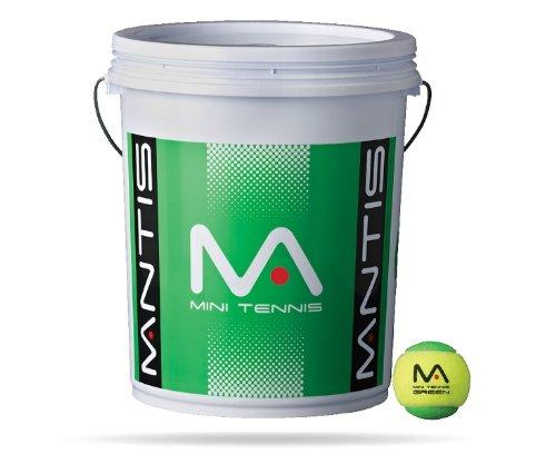 Mantis Tennis Bucket Stage 1 Balls - Green, 72 Ball - 72 Bucket Ball