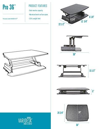 VARIDESK - Height-Adjustable Standing Desk - Pro 36