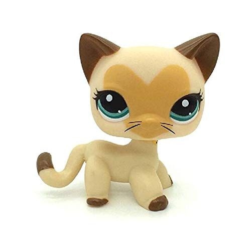 Littlest Pet Shop LPS Toy Pet Short Hair Cat Animal Child Girl Boy Figure Loose Cute Standing Cat Mask Short Hair (choose your cat) for kids gift 1pc