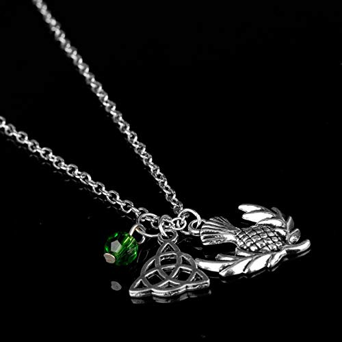 Algol - Newest Outlander Scottish Iris Eternity Knot Dragonfly Scottish Irish Gaelic Necklace Chain Jewelry Women