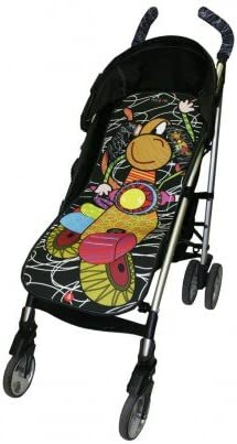 Tris&Ton colchoneta silla de paseo ligera universal para carrito cochecito bebe transpirable de microfibra modelo Moto Negra + protección de arneses (Trisyton): Amazon.es: Bebé