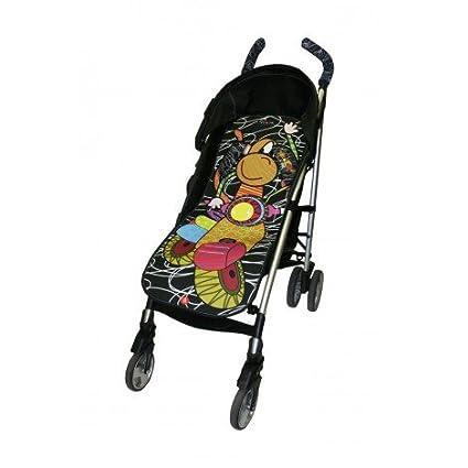Tris&Ton colchoneta silla de paseo ligera universal para carrito cochecito bebe transpirable de microfibra + protección de arneses (Variedad de ...