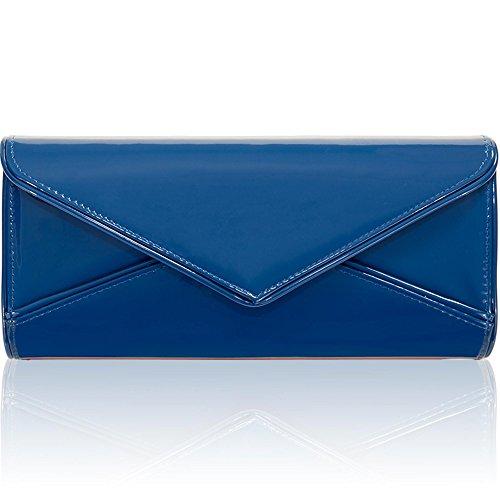 Party Clutch Shoulder Cobalt royal Bridal Women Patent Bags Evening Blue Xardi New Envelope London Uk Blue Ladies HwOqSxW8t