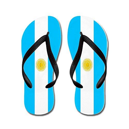 CafePress Flip Flops - Argentina - Flip Flops, Funny Thong Sandals, Beach Sandals Black