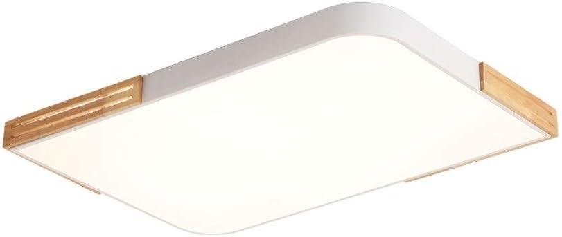 Aiqiyi LED Plafonnier Nordic Wood Lamp Home Atmosphere Créatif Rectangulaire Salon Lampe Simple Moderne Chambre À Coucher Salle D'étude Ménage Plafond Chaud