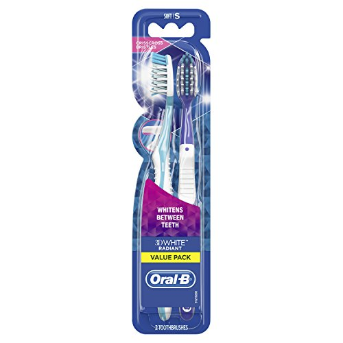 Oral-B 3D White Radiant Whitening Manual Toothbrush, 2 Count reviews