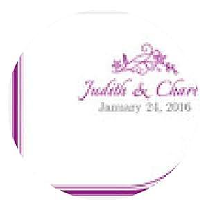 alfombrilla de ratón anuncio de la boda clásica con encaje floral blanco - ronda - 20cm