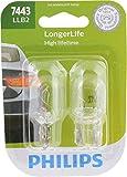 Philips 7443LLB2 LongerLife Miniature Bulb, 2 Pack