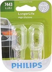 Philips 7443LLB2 LongerLife Miniature Bu...