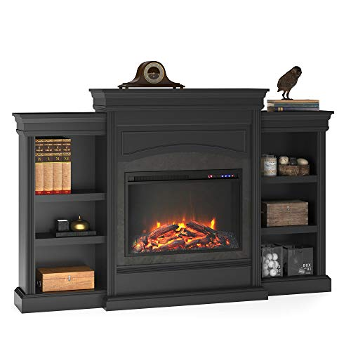 Ameriwood Home Lamont Mantel Fireplace, Black