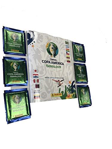 Copa America Brasil 2019 (6 Sticker Packs & Soft Album Included)