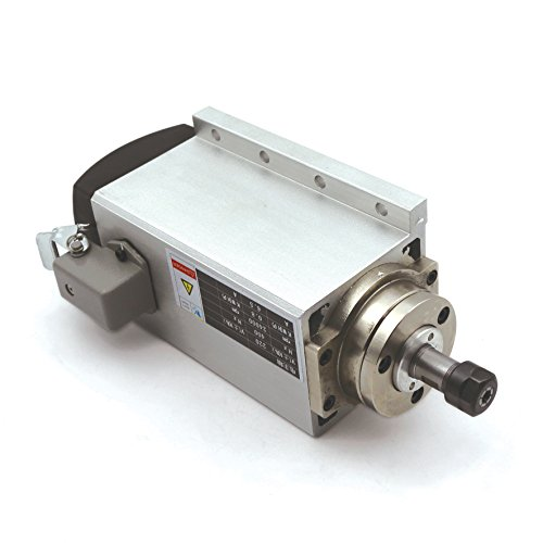 Square 0.8KW/800W CNC Air-cooled Spindle Motor ER11 24000rpm 220V/AC 6.5A 400Hz Engraving Router Milling Grinding Cutting Machines 【 Suitable For Medium Or Large Processing 】 by RATTMMOTOR (Image #3)