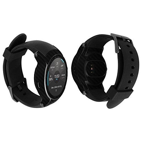 Skinomi TechSkin - LG Watch Sport Screen Protector + Carbon Fiber Full Body Skin / Front & Back Wrap Clear Film / Ultra HD and Anti-Bubble Shield