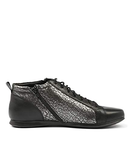 Croc Womens DIJONE Shoes Casuals Black Black SUPERSOFT Leather Sneakers OZAx1