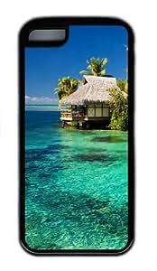 TYH - Tropical Resort Custom iPhone 4/4s Case Cover TPU Black ending phone case