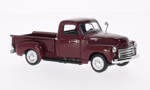GMC Pick Up, dark red, 1950, Model Car, Ready-made, Lucky The Cast 1:43