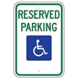 Federal Handicap Parking Sign (R7-8) 12''x18'' 080 Aluminum