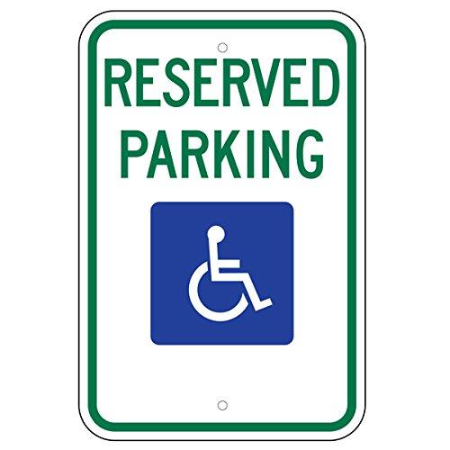 Federal Handicap Parking Sign (R7-8) 12''x18'' 080 Aluminum