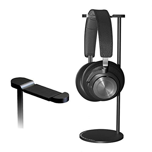 (YXTHON Gaming Headset Headphone Stand for PC PS4 Xbox One Headset, Headset Stand with Premium Aluminum Body for All Headphones Size,Non Slip Base,Black)