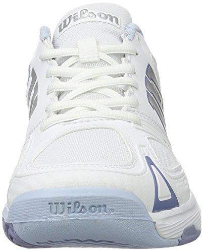 Wilson WRS322250E040, Zapatillas de Tenis para Mujer, Blanco (White / White / Stonewash), 37 EU