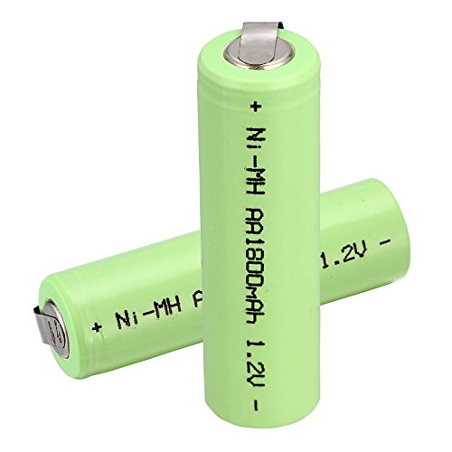 Windmax 2 x NiMH 1.2v AA 1800 mAh Electric Shaver Rechargeable Battery With Solder Tabs