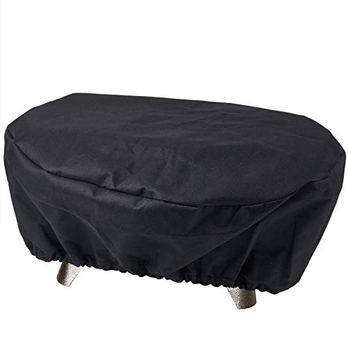 SHINESTAR Grill Cover for Lodge Cast Iron Sportsman's Grill, Small Grill Cover for Coleman Party Propane Grill, 19  10  8 Inch