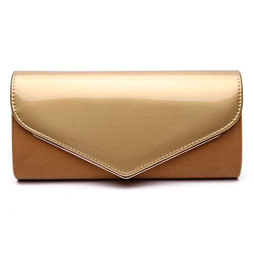 Is A Quilted Leather Clutch - 4