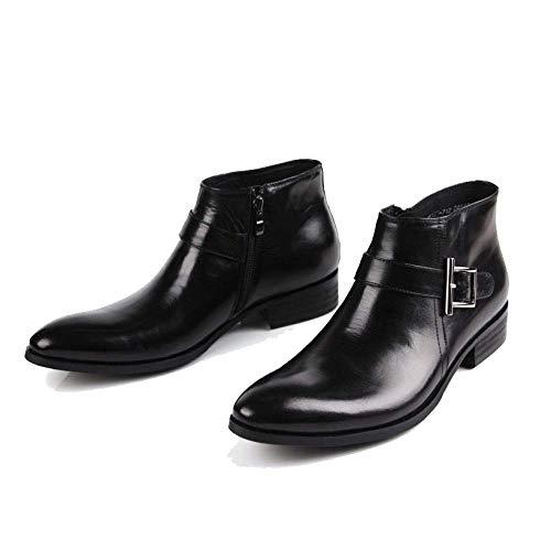 Scarpe di Black Lavoro Tendenza in Stile Britannico Alte E Stivali alla Stivaletti Moda da BpfqS88w