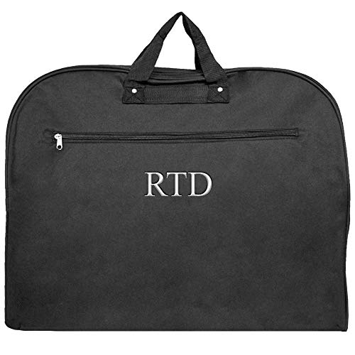 Personalized Unisex Black Garment Suit Luggage Bags by LD Bags