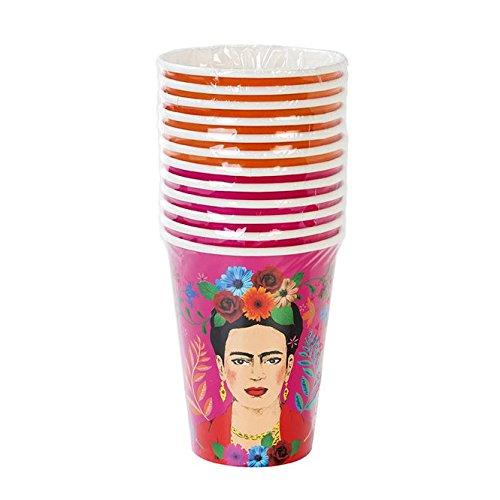 Frida Kahlo Boho Bohemian Design Party Supplies Large Paper Cups, 12 oz, Set of 24