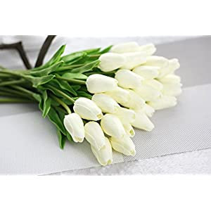 SHSYCER 20pcs Tulip Flower Home Garden Hotel Party Event Christmas Wedding Gift Decoration Artificial Flowers Nearly Natural 3