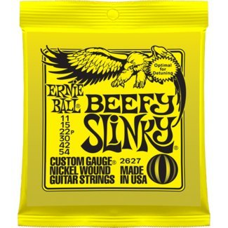 Ernie Ball P02627 Beefy Slinky Nickel Wound Electric Guitar Strings, 11-54 (2 Pack) (Ernie Ball Beefy Slinky)