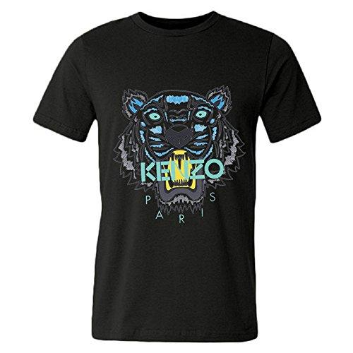 Price comparison product image DHSVXBBBB Mens T-shirts Kenzo Logo 2016 Black Size L