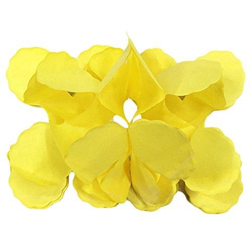 3 M Vierblättriges Kleeblatt Blumen Papier Handwerk Girlanden Geburtstag Hochzeit Dekor Gelb