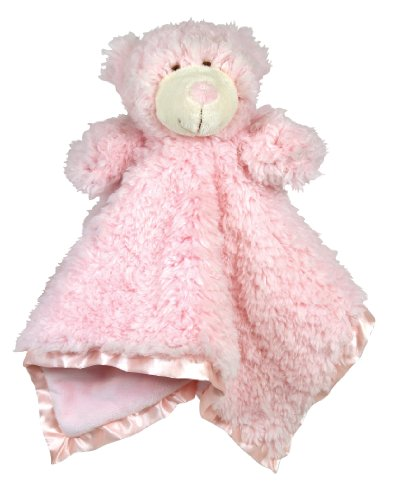 Stephan Baby Plush Cuddle Bud Security Blankie Available in 6 Styles, Pink Bear -