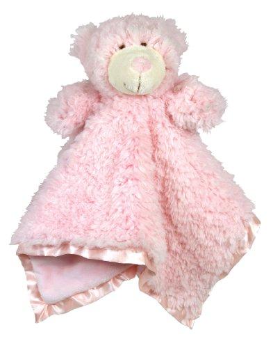 Stephan Baby Ultra Soft Cuddle Bud Blankie Bear, (Pink Bear Blanket)