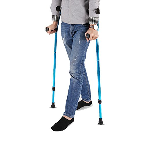 ROBAG Arm Portable Elbow Crutch, Aluminum Alloy Foldable Disabled Person Rehabilitation Walking Stick a Pair