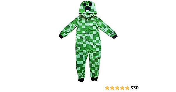 Minecraft Pijama de traje de traje de unión de enredadera para niños